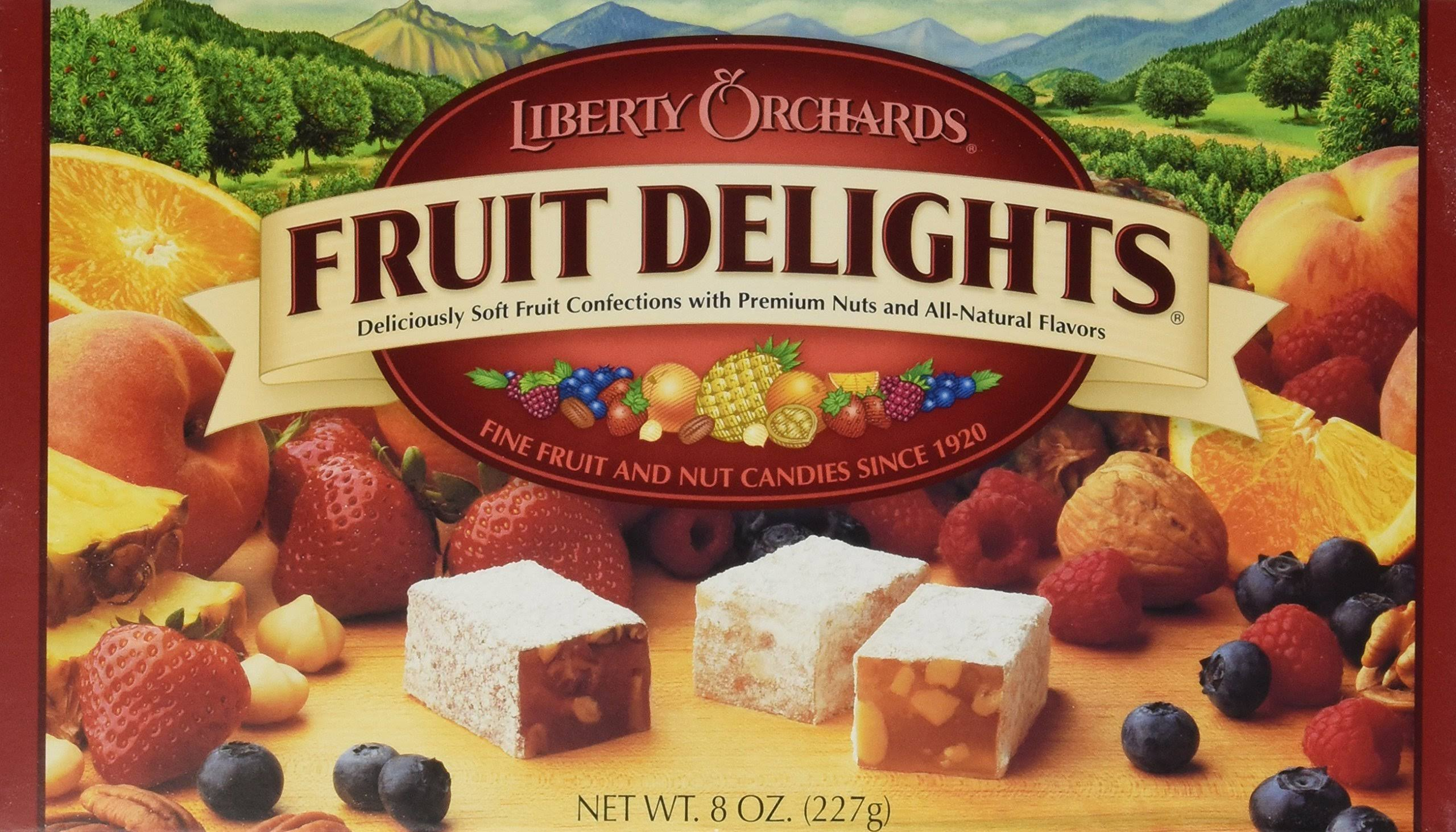 Liberty Orchards Fruit Delights. Brand New