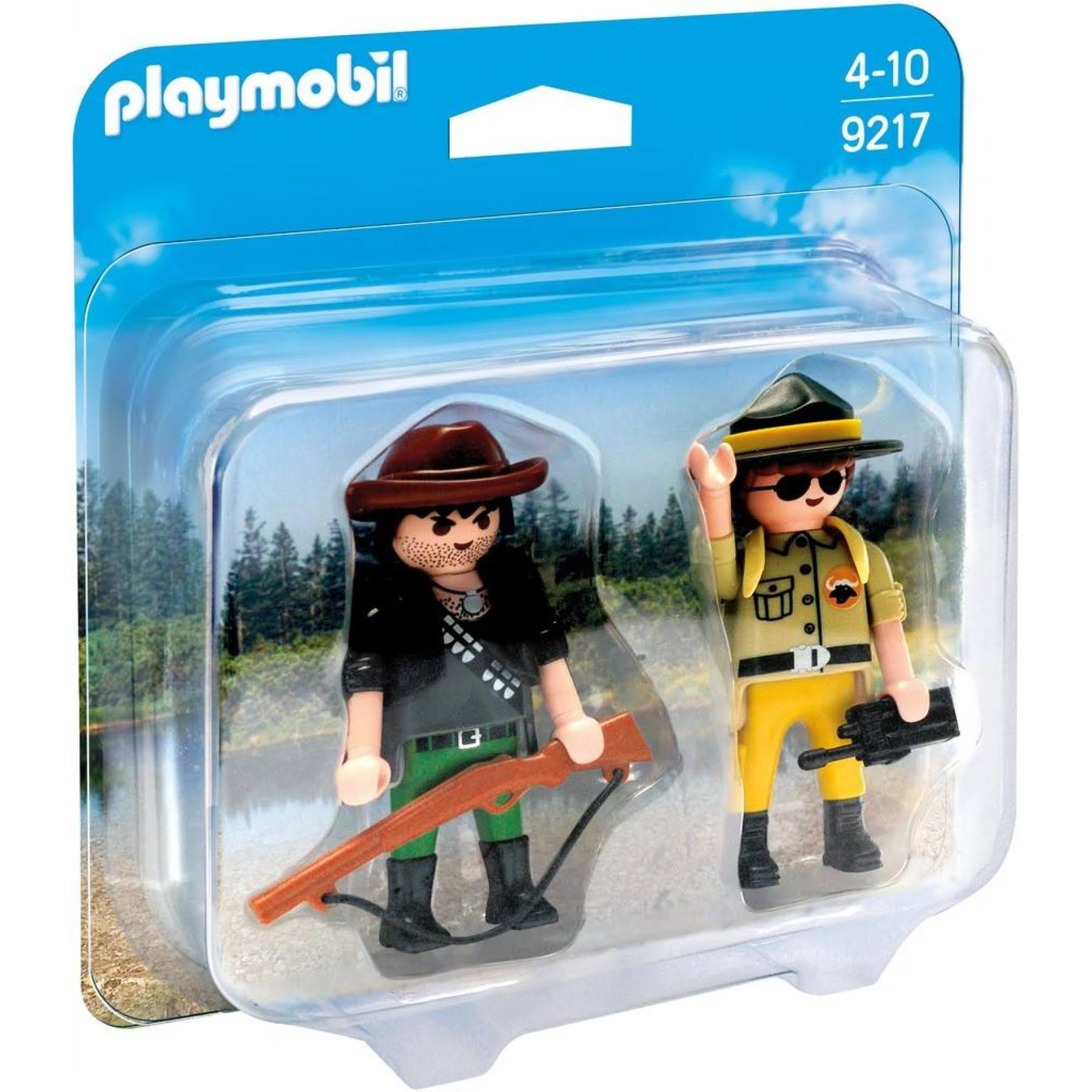 Playmobil Wild Life Ranger and Hunter Toy Figures