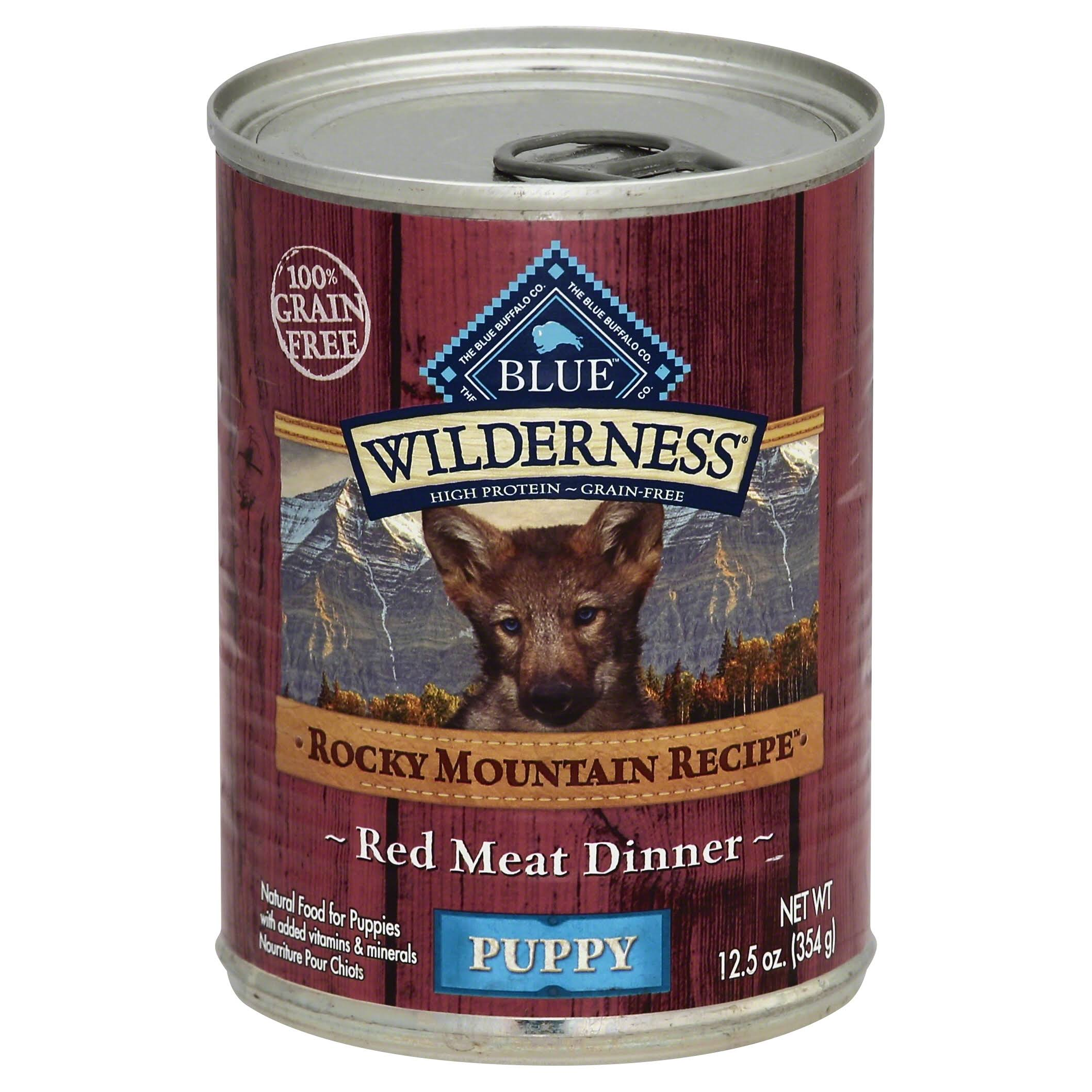 Blue Buffalo Wilderness High Protein Wet Puppy Food - Rocky Mountain Recipe, 12.5 oz