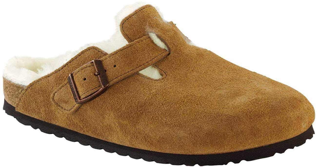 Boston Men's Genuine Shearling Lined Clogs - Beige, 9 US