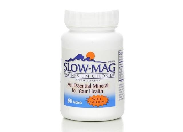 Slow Mag Magnesium Chloride with Calcium Tablets - 60ct
