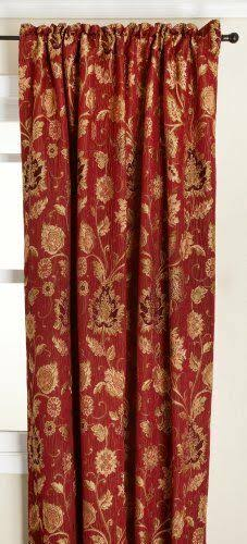 "Stylemaster Melbourne Curtain Panel, 52"" x 63"", Burgundy"