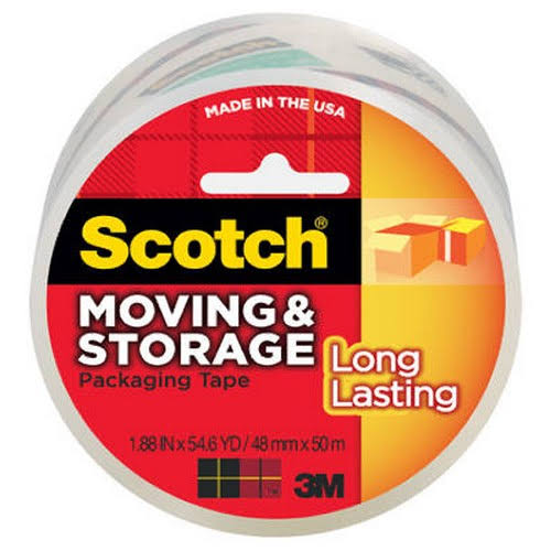 "Scotch Long Lasting Moving and Storage Packaging Tape - 1.88"" x 54.6 Yards"