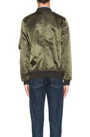 a p c rudy nylon bomber jacket in green lyst