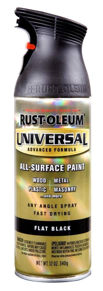 Rust-Oleum Universal Spray Paint - Flat Black, 12 Oz