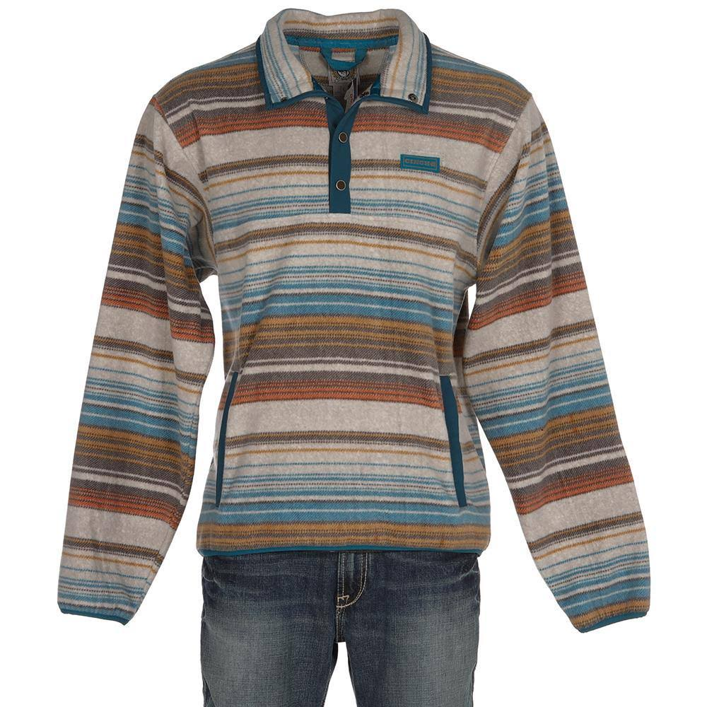 Cinch Printed Fleece Pullover Multi MD