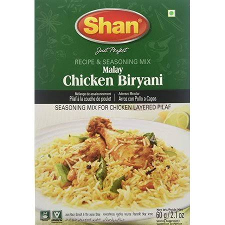 Shan Recipe & Seasoning Mix, Malay Chicken Biryani - 60 g