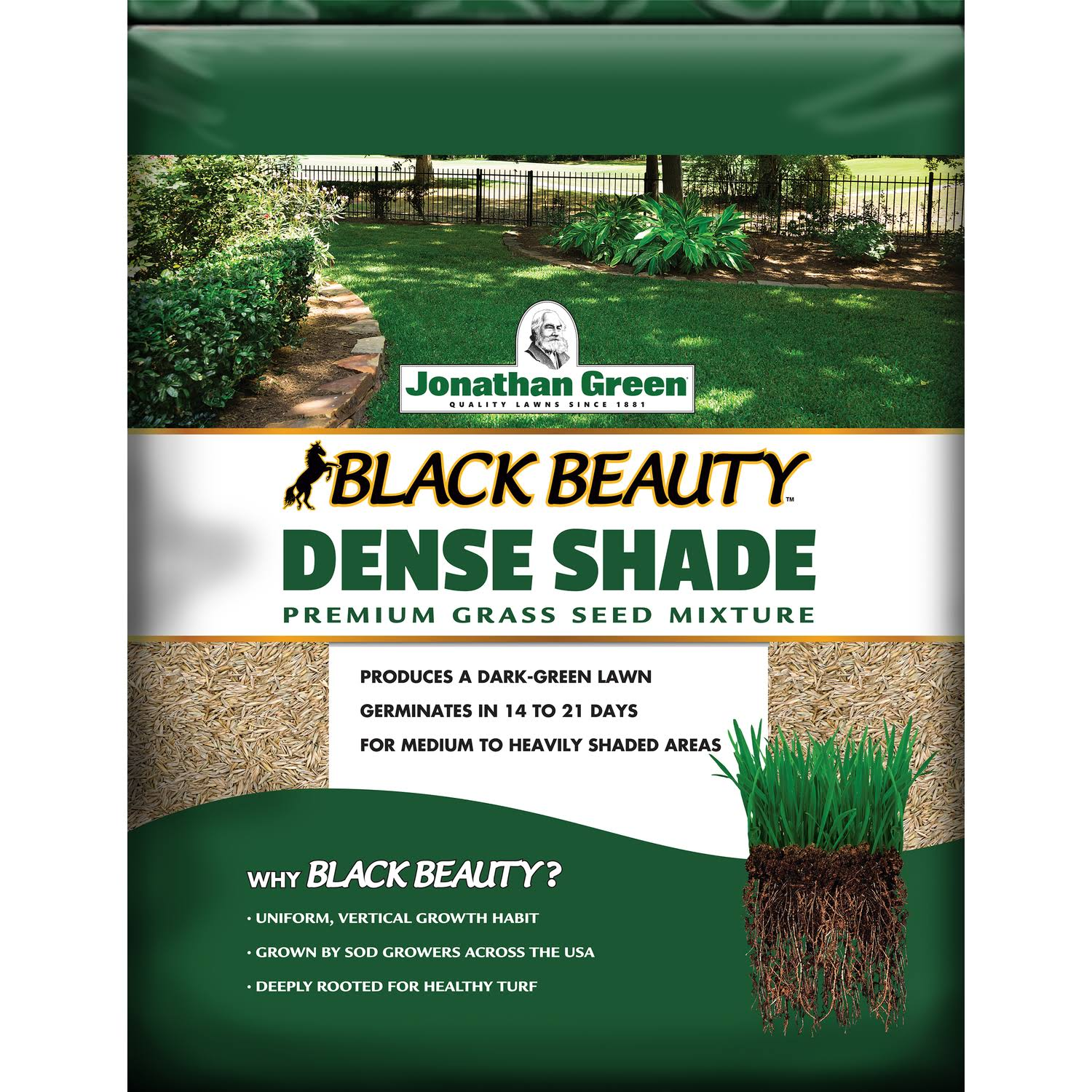Jonathan Green Dense Shade Grass Seed Mix - 7lbs