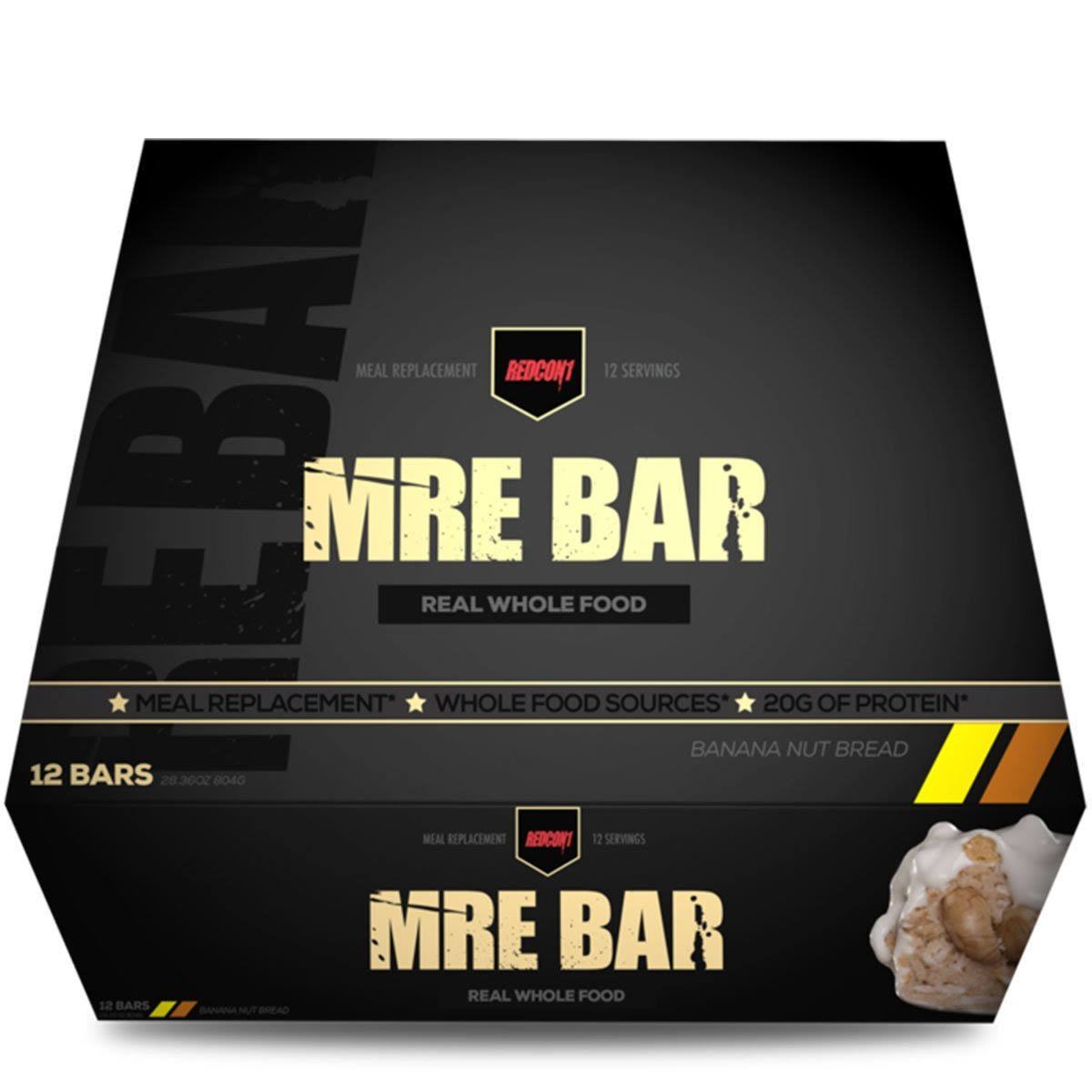 Mre Bar Protein Bar, Banana Nut Bread - 12 bars, 28.36 oz