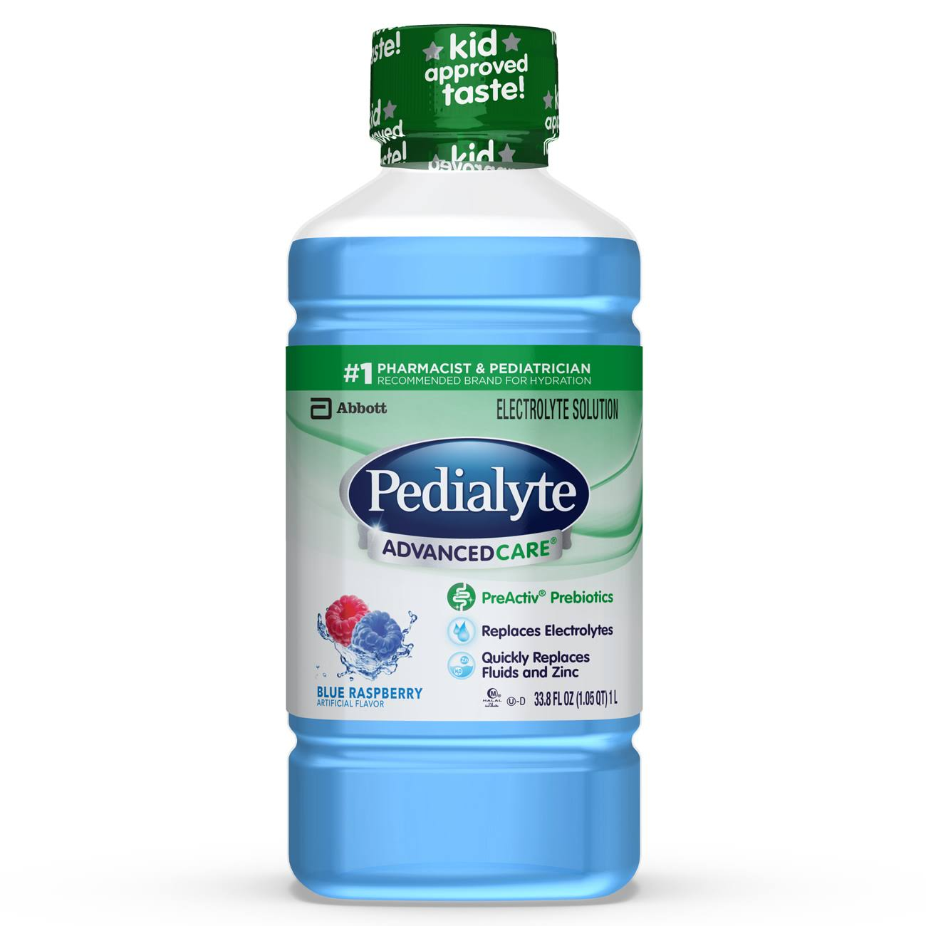 Pedialyte Advance Care Oral Electrolyte Solution - Blue Raspberry, 1L