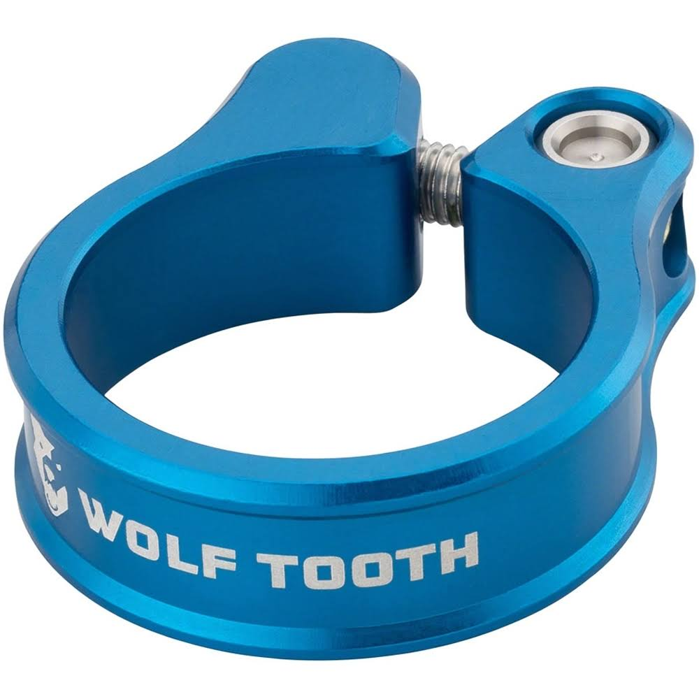 Wolf Tooth Seatpost Clamp - 31.8mm, Blue