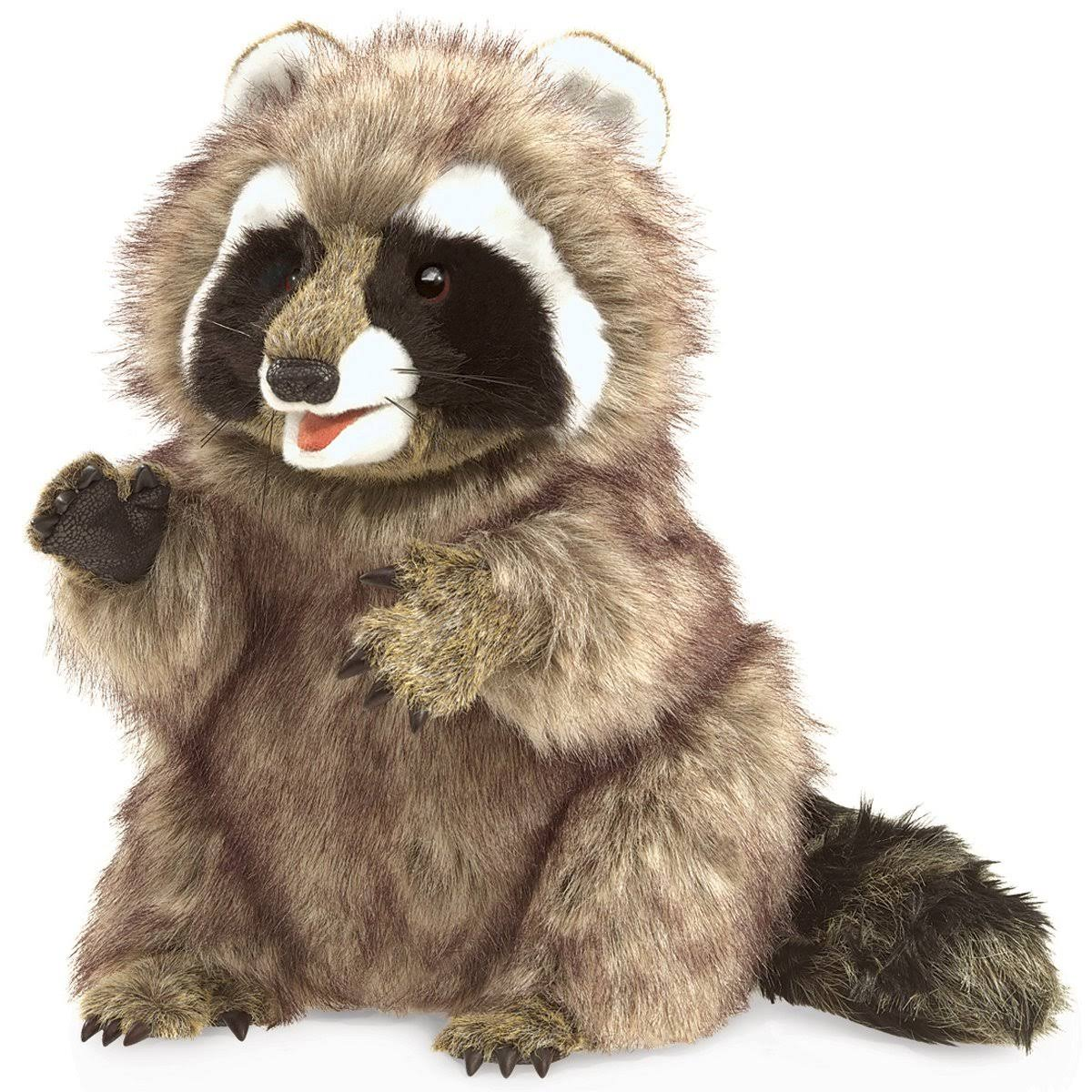 "Folkmanis Raccoon Soft Plush Hand Puppet - 13"" x 9"" x 19"""