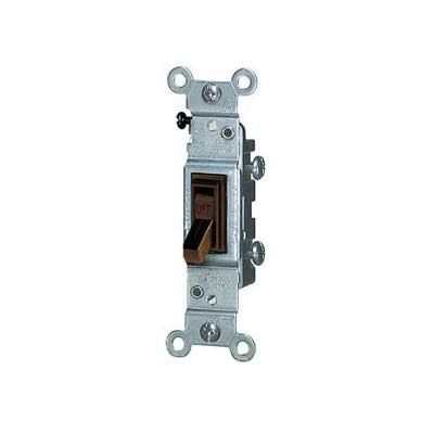 Leviton Toggle Single Pole Electric Switch - 15 Amp, 120V, Brown