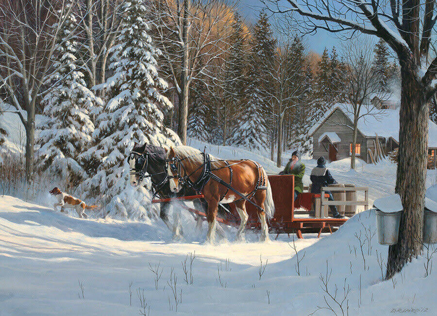 Cobble Hill Sugar Shack Horses Jigsaw Puzzle - 1000pcs