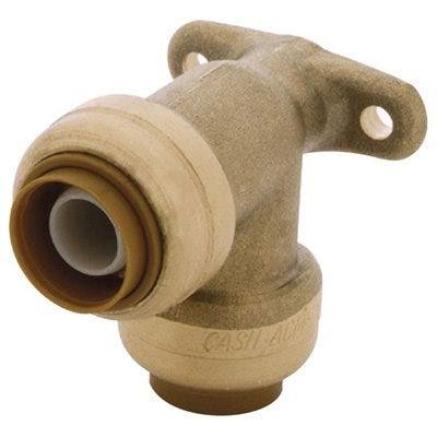 SharkBite Brass Push-to-Connect Drop Ear Elbow - 90 Degree, 1/2""