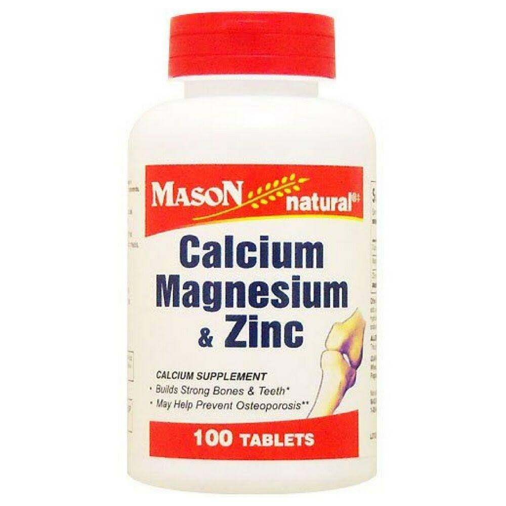 Mason Natural Calcium Magnesium & Zinc - 100 Tablets