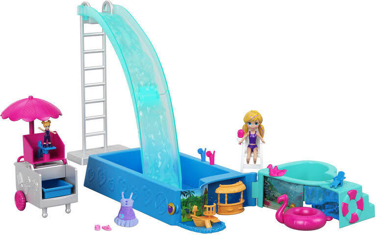 Polly Pocket Splashtastic Doll and Pool Surprise Playset