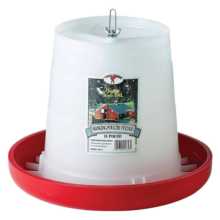 Little Giant Plastic Hanging Poultry Feeder - 11lbs