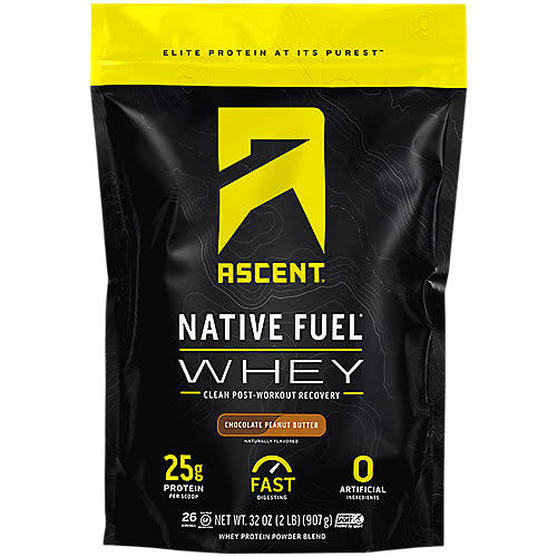 Ascent Lemon Sorbet Native Fuel Whey Protein Blend - 907g