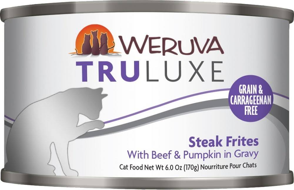 Weruva Truluxe Steak Frites Cat Food - with Beef Pumpkin in Gravy, 3oz