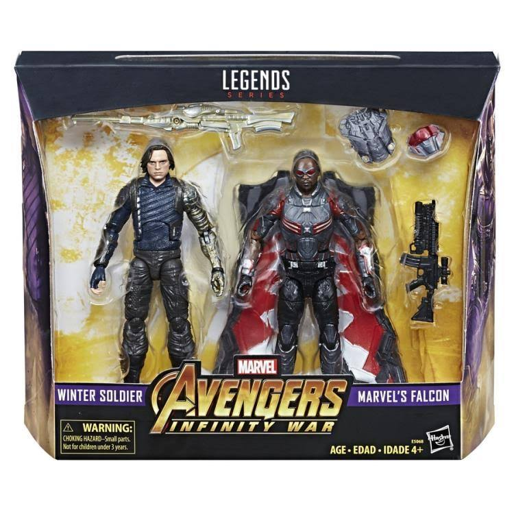 Hasbro Marvel Legends Winter Soldier and Marvel's Falcon Action Figure - 2pk, 6""