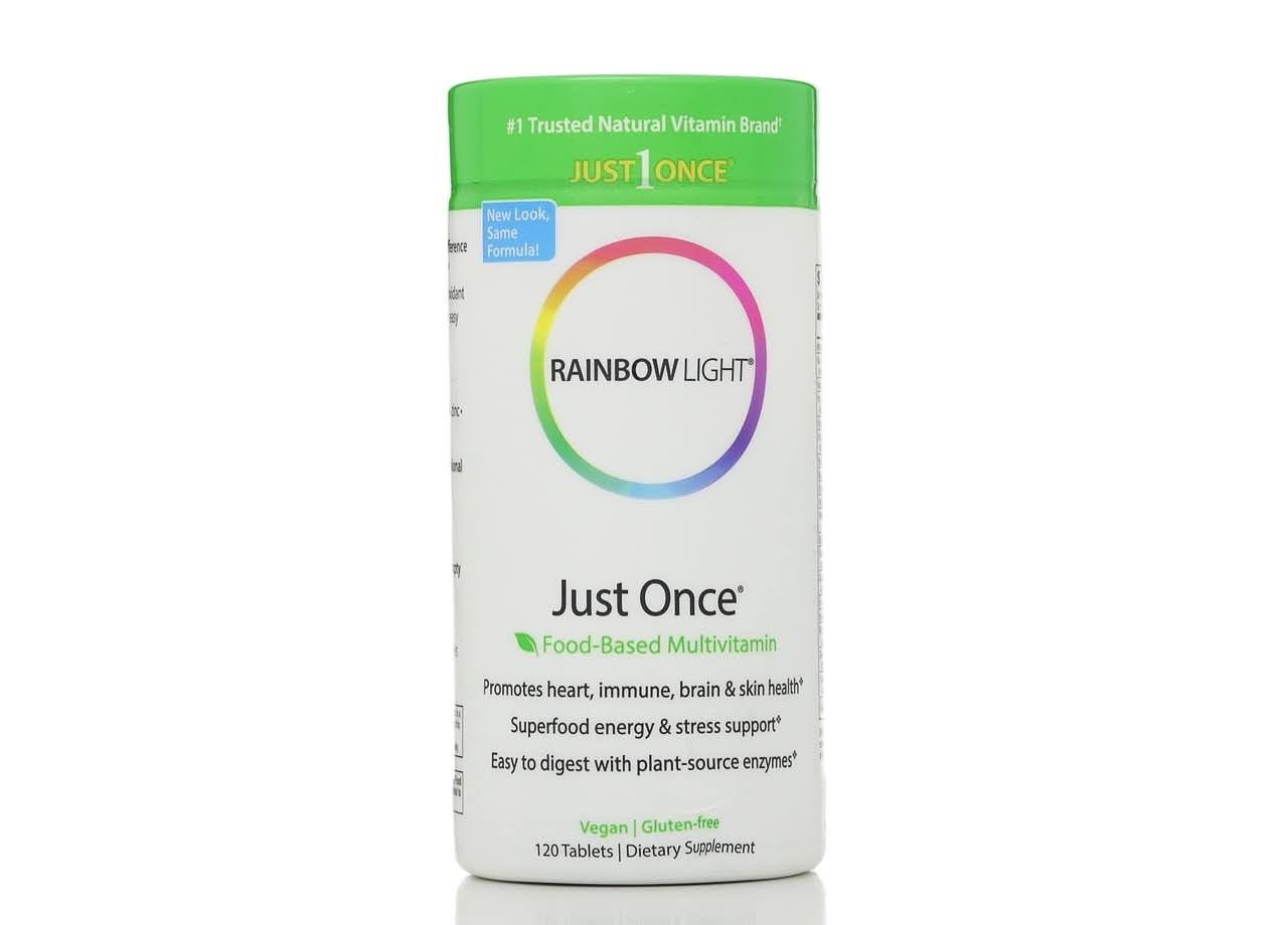 Rainbow Light Just Once Multivitamin Supplement - 120 Tablets