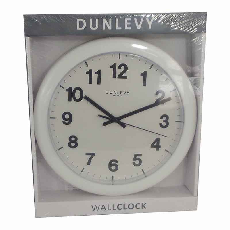 Wall Clock 10 Inch White