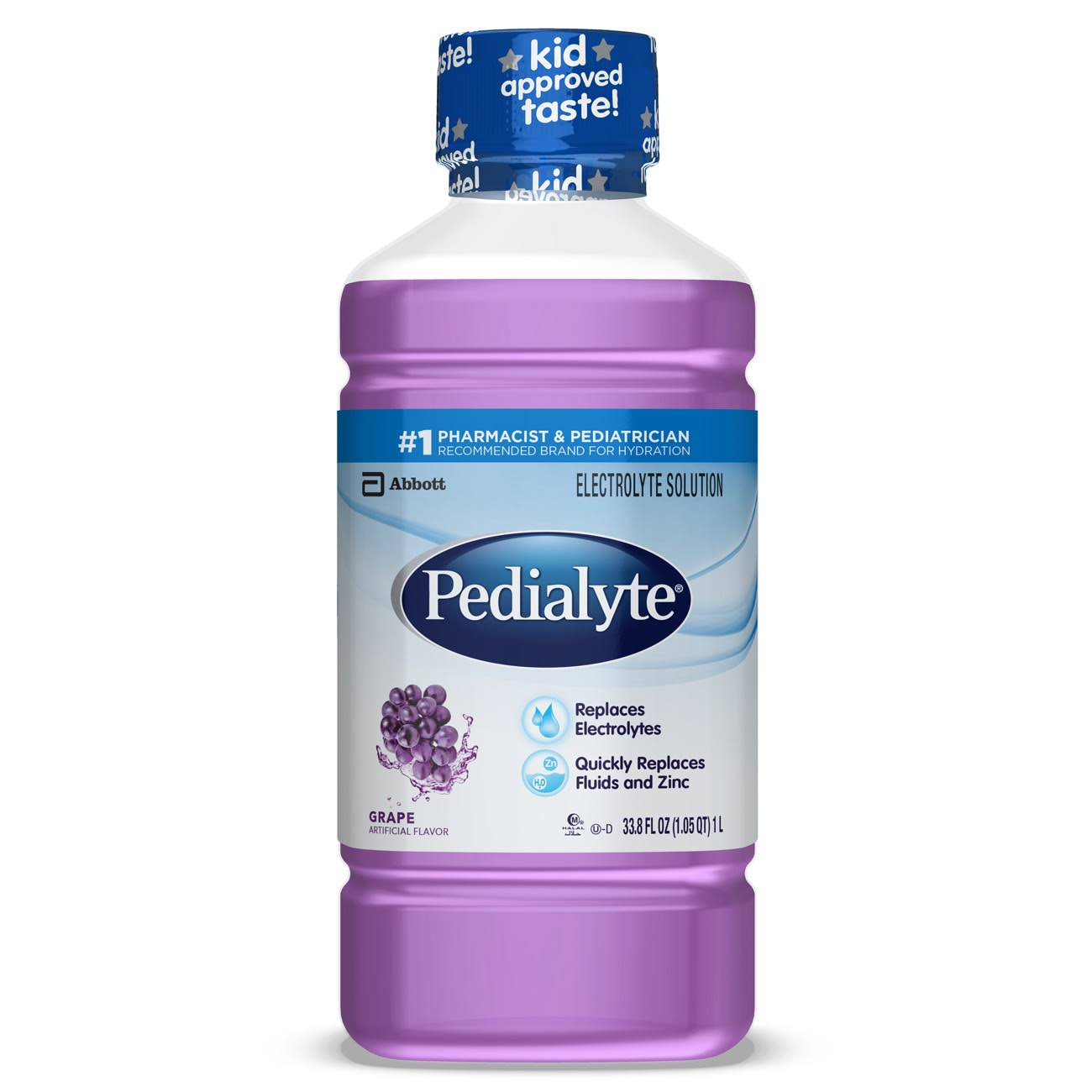 Abbott Pedialyte Grape Electrolyte Solution - 1.1qt, Grape