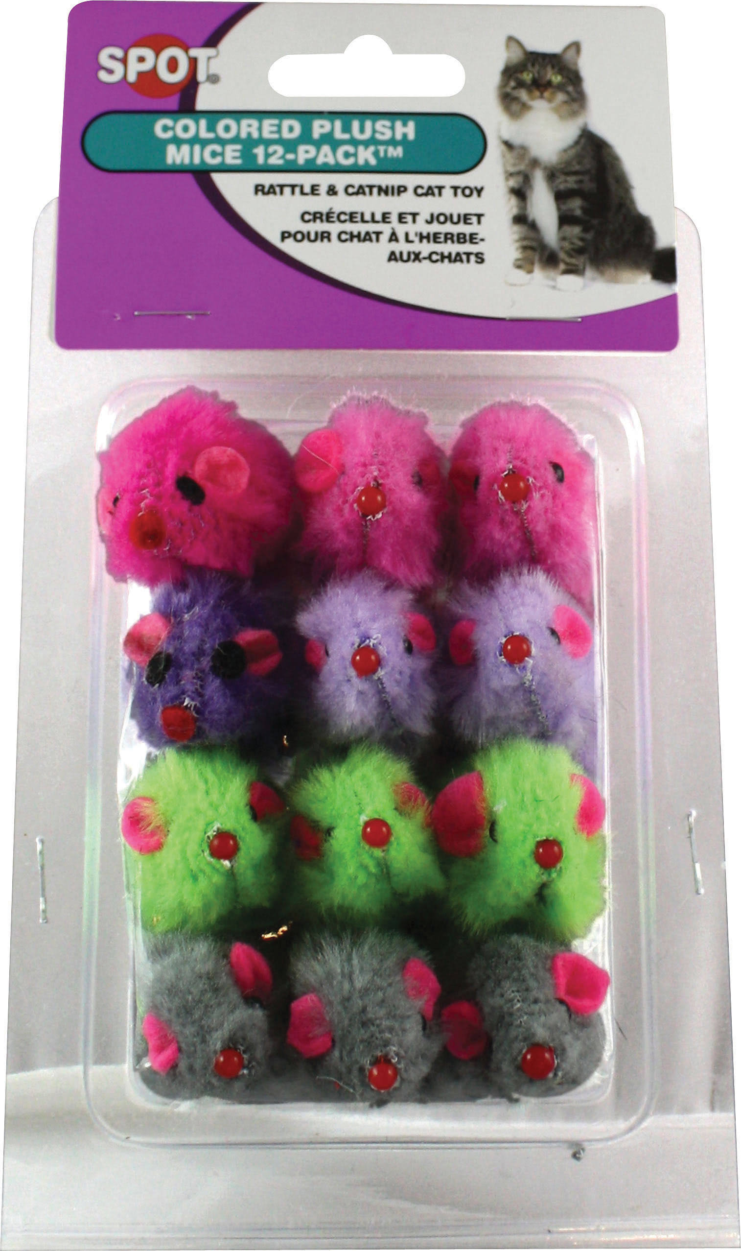 Ethical Colored Plush Mice With Catnip Cat Toy