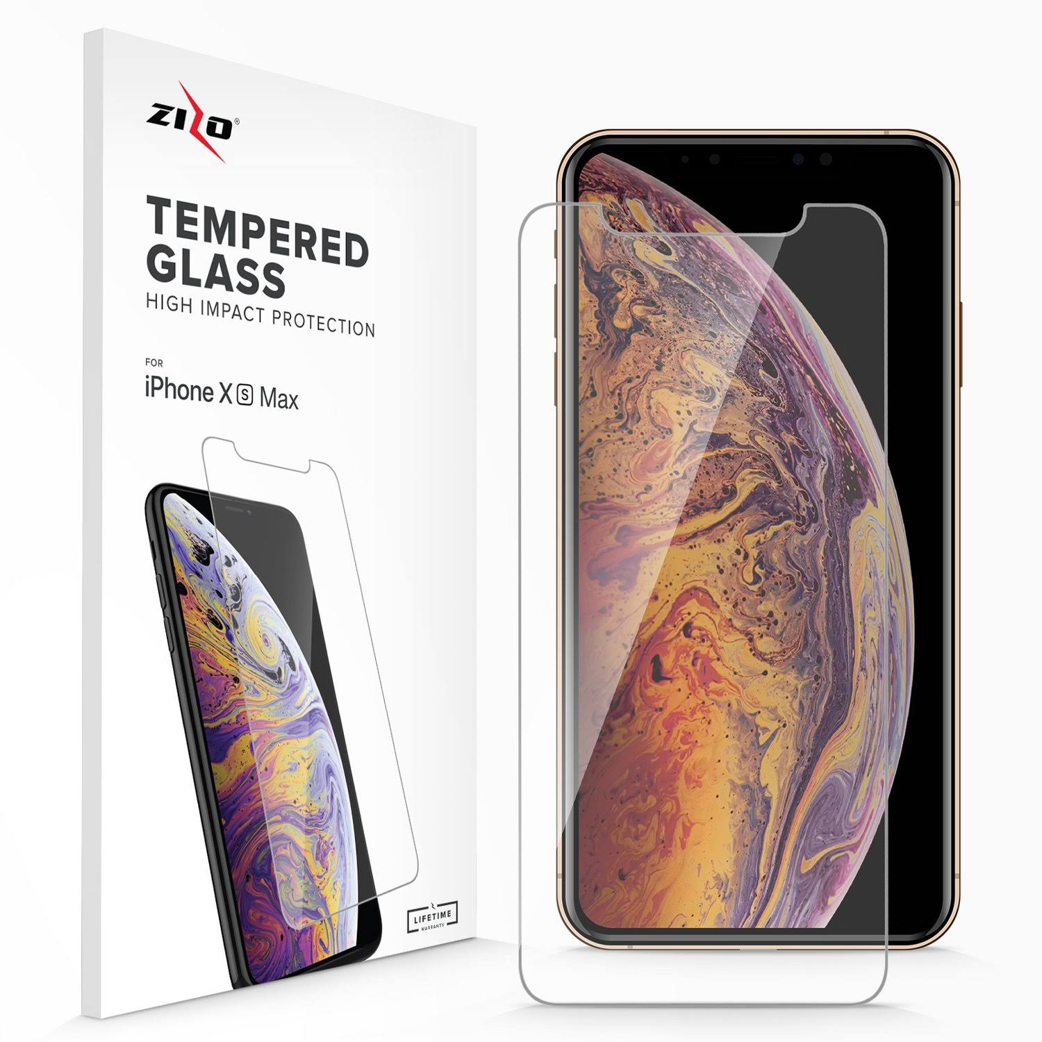 Zizo iPhone XS Max Lightning Shield Tempered Glass Screen Protector