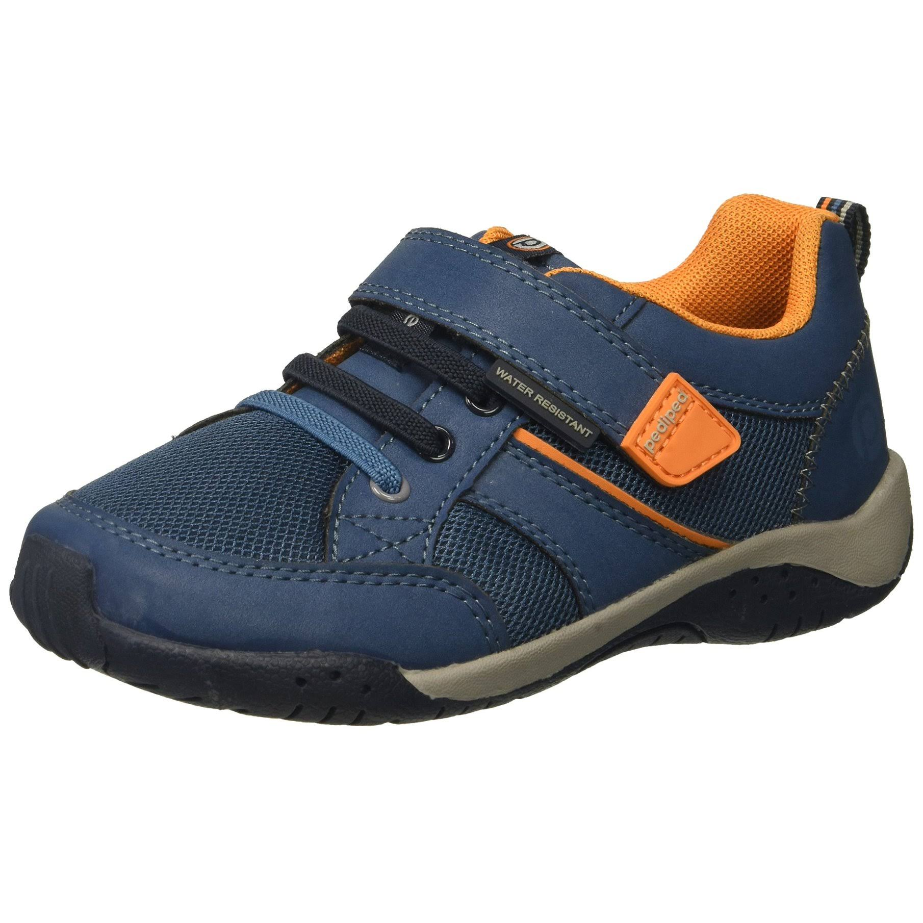 pediped Unisex Flex Justice Sneaker, Navy, 29 E EU Little Kid 12-12.5 US