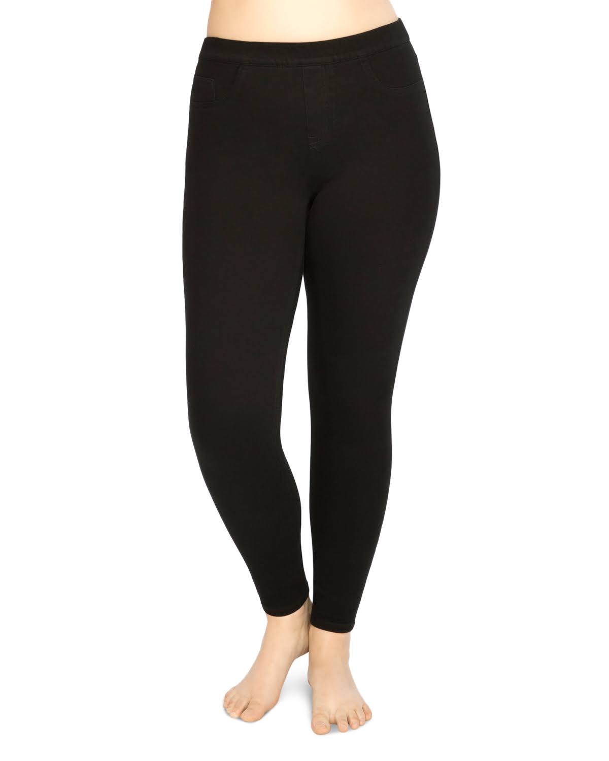 Spanx Plus Jean-ish Ankle Leggings, Womens, 2X, Black