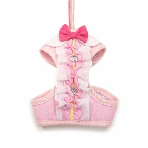 EasyGo Ruffle Dog Harness by Dogo - Pink - X-Small
