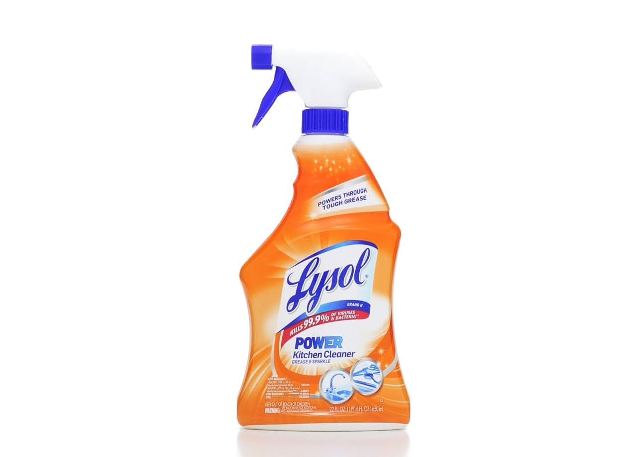 Lysol Antibacterial Kitchen Cleaner - Citrus Scent, 650ml