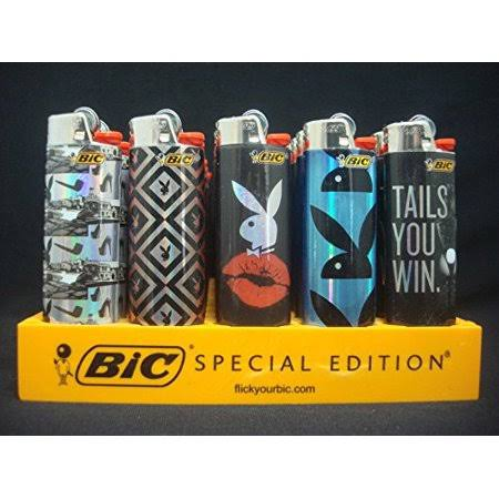 BIC Holographic Playboy Design Regular Size Disposable Lighter