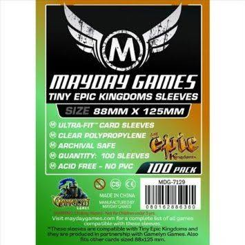 Mayday Games Tiny Epic Kingdoms 88 x 125mm Sleeves