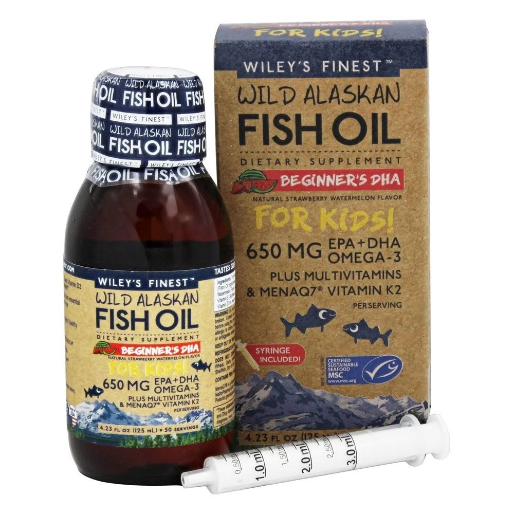 Wiley's Finest Wild Alaskan Fish Oil - 650mg, Watermelon
