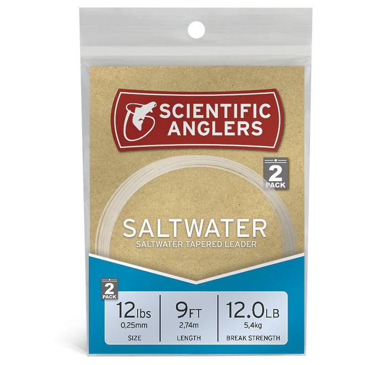 Scientific Anglers Premium Saltwater Tapered Fly Fishing Leaders - 2 Pack