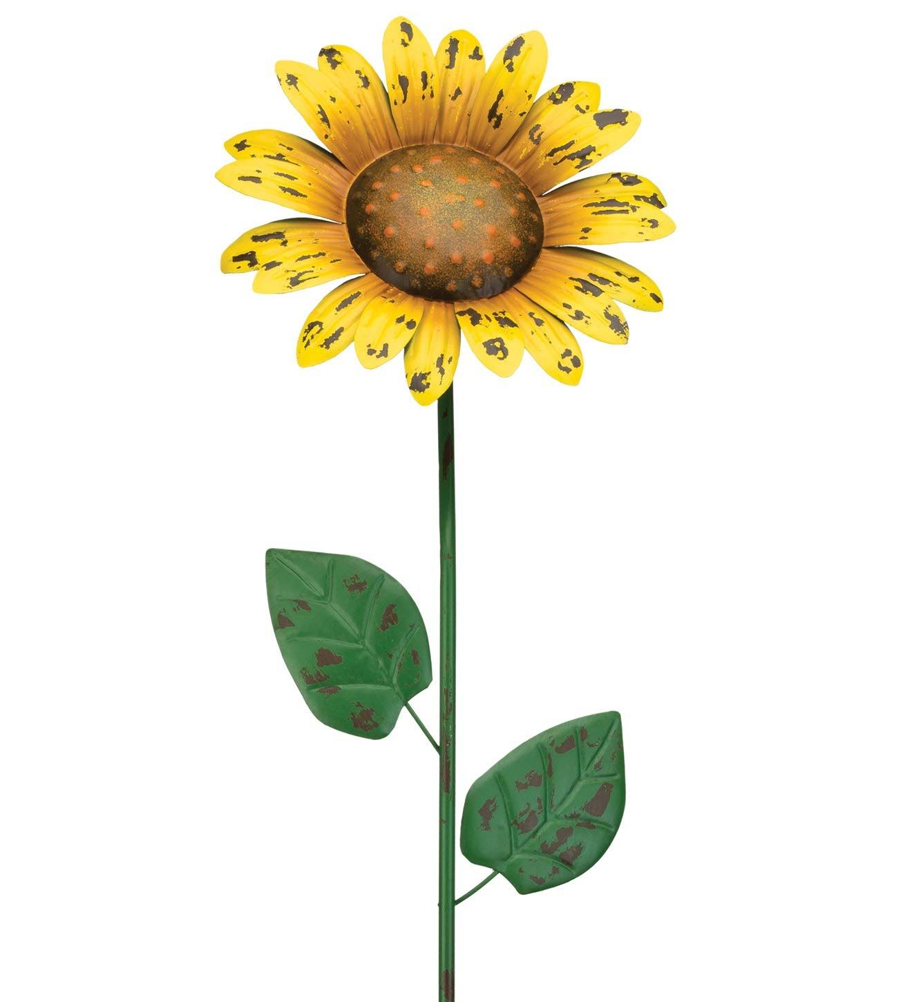 "Regal Art & Gift 36"" Rustic Sunflower Flower Stake"