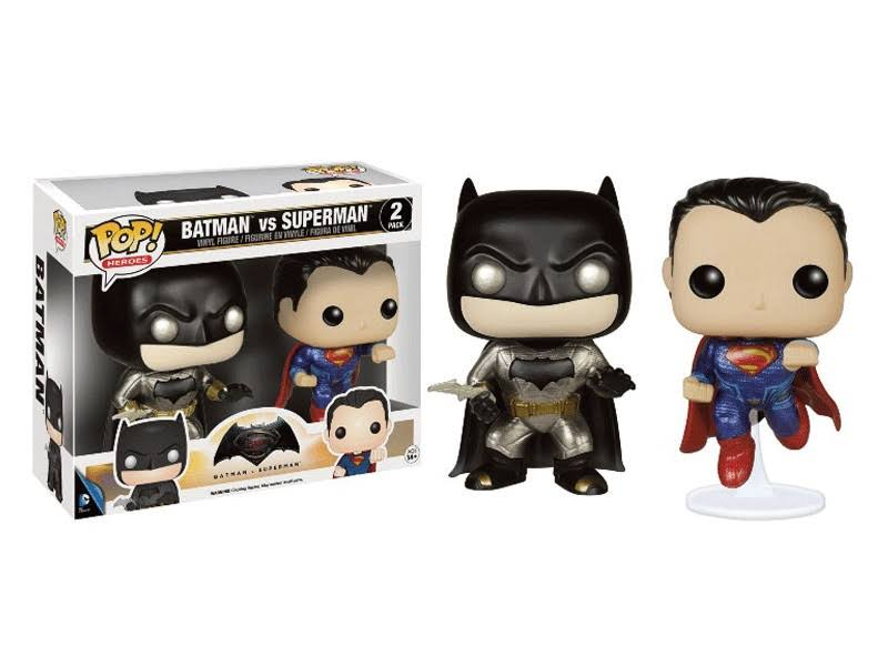 Funko Pop Batman vs Superman Metallic Figurine - 9cm