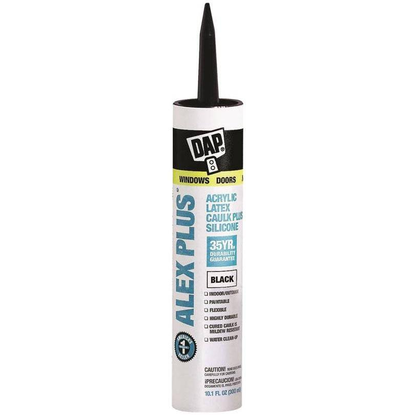 Dap Alex Plus Acrylic Latex Caulk with Silicone - Black, 299ml