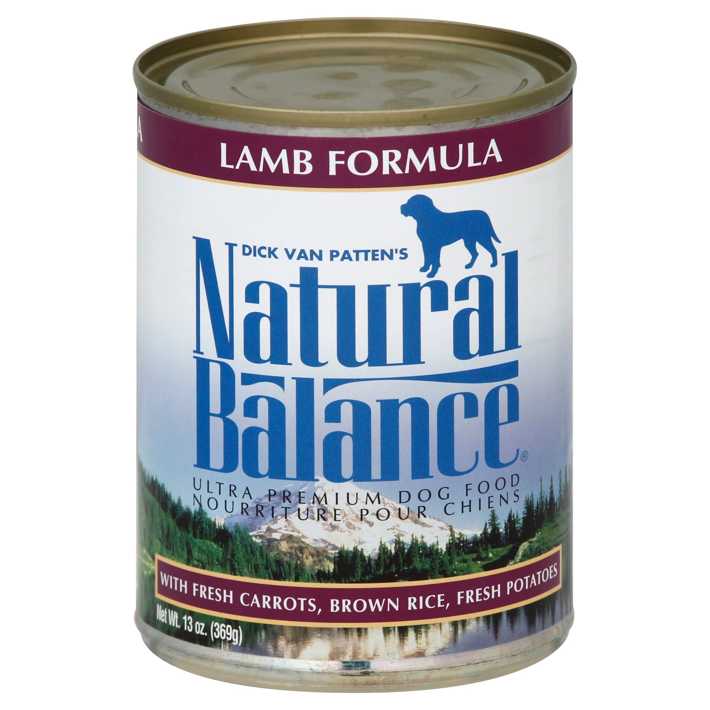 Natural Balance Premium Dog Food - Lamb Formula, 369g