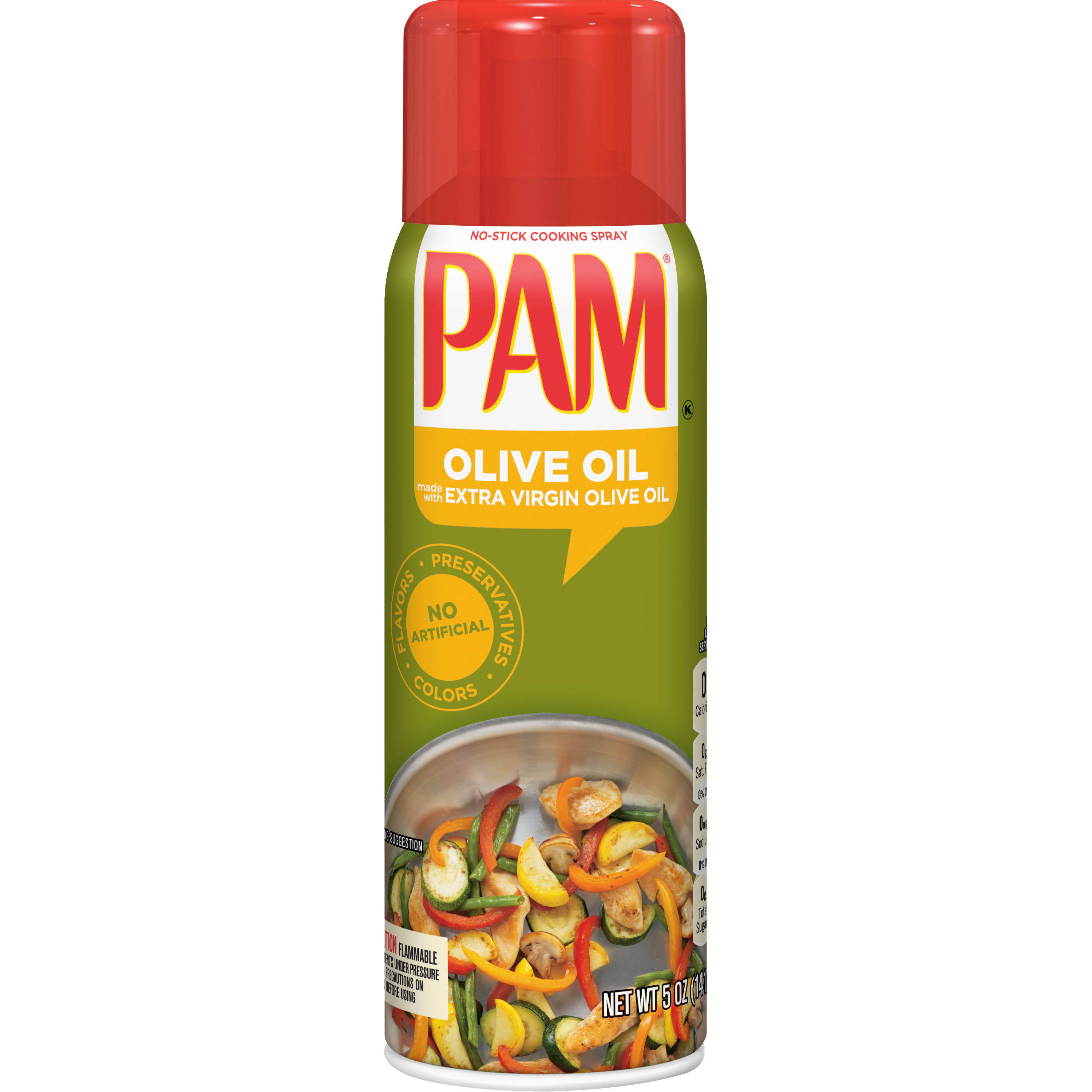 Pam No Stick Purely Olive Oil Cooking Spray - 5oz