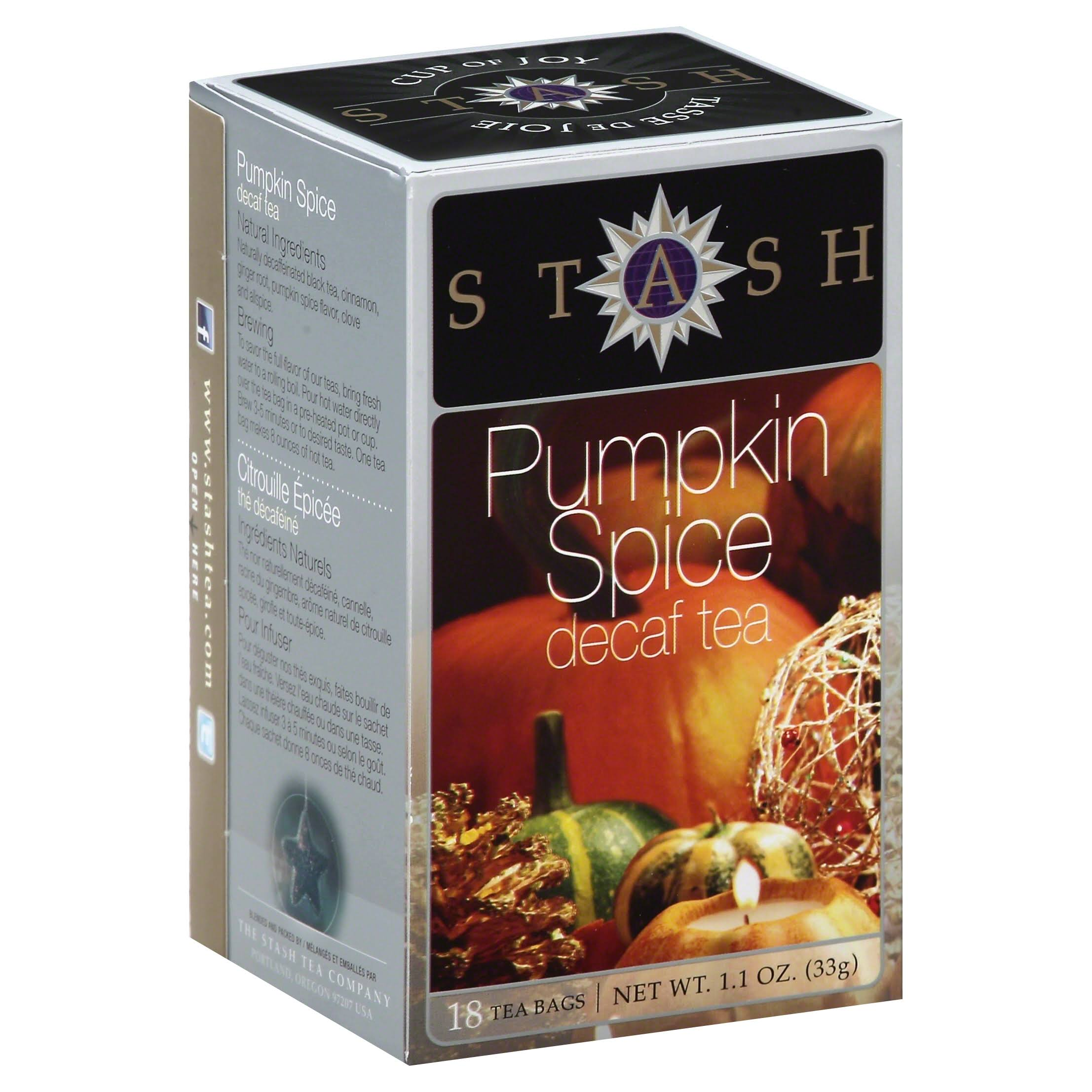 Stash Pumpkin Spice Decaf Tea Bags - 18ct