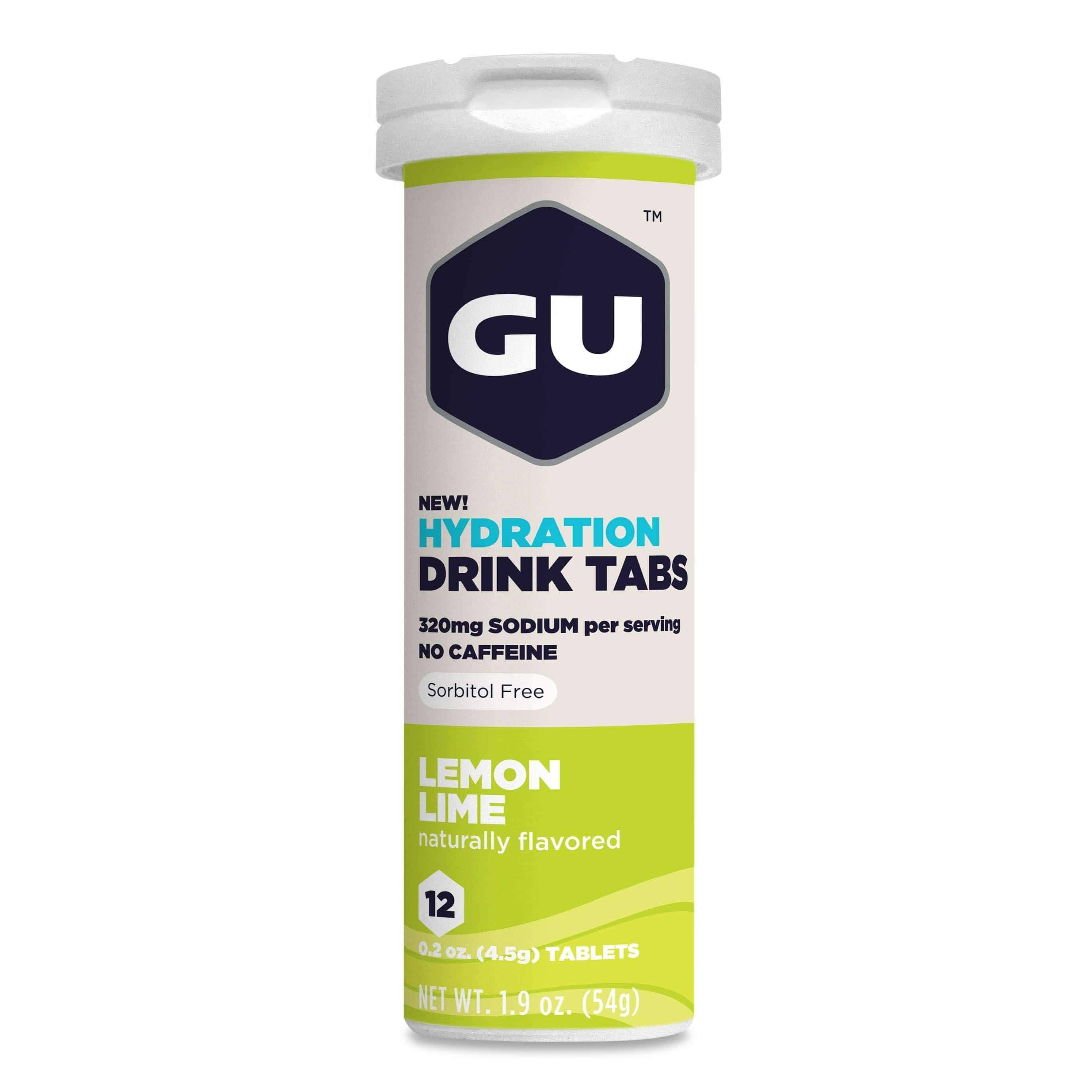 GU Energy Hydration Drink Tabs - Lemon Lime, 12 Pack