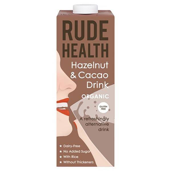 Rude Health Organic Drink - Hazelnut and Cacao, 1L