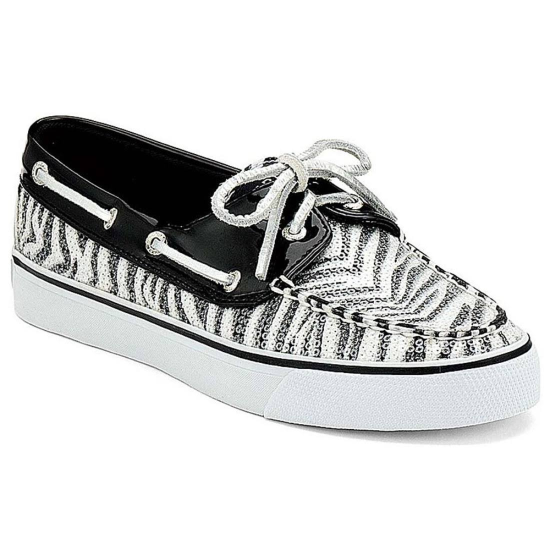 Sperry Topsider Women's Bahama Zebra Black 9.5 M