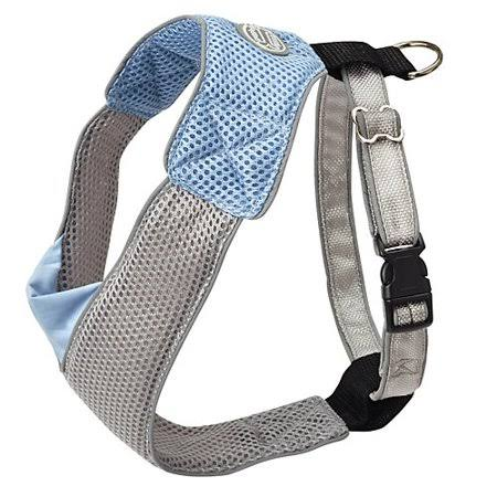 Doggles V Mesh Dog Harness - Blue/Gray, X Small