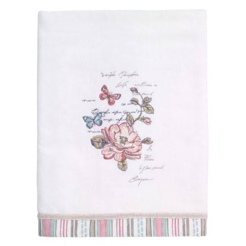 Avanti Butterfly Garden Bath Towel - White