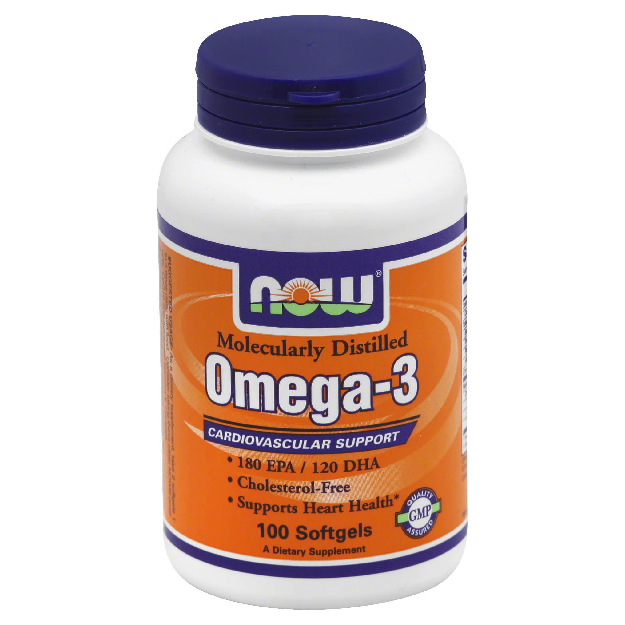 Now Omega-3 Cardiovascular Support - 100 Softgels